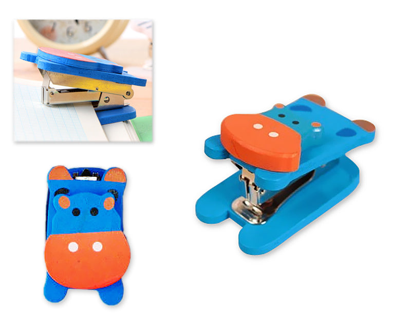 Wooden Desktop Mini Stapler Office Book Sewer - Hippo