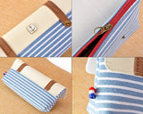 Navy Style Pen and Pencil Case - Blue