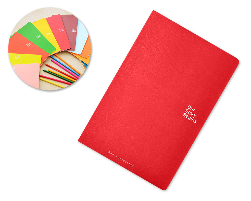 Diary Journal Writing Notebook Agenda Scheduler Memo Book - Red
