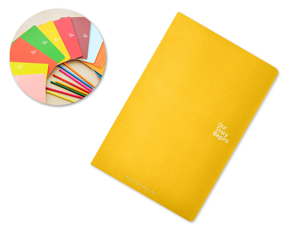 Diary Journal Writing Notebook Agenda Scheduler Memo Book - Yellow