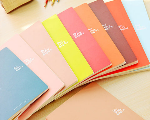 7 x 9 Inches 46 Pages Writing Composition Notebook Memo Book - Blue