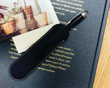 Large Luxury Leather Single Pen Holder with Transparent Case