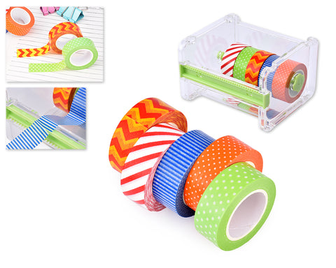 5 Pcs 1.5m Washi Making Tapes with Tape Dispenser