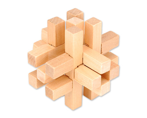 14 Pcs Kongming Lock Brain Teaser Wooden Puzzle