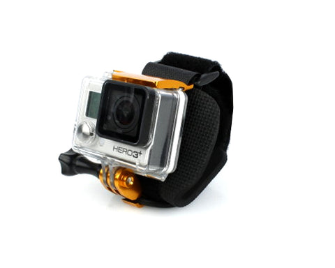 GoPro Wrist Strap Band Mount w/Snap Latch for Hero 3+/4 Camera - Gold