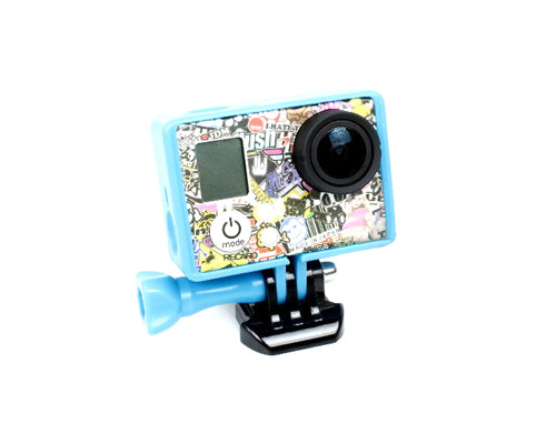 GoPro Border Standard Frame Mount for Hero 3 / 3+ / 4 Camera - Blue