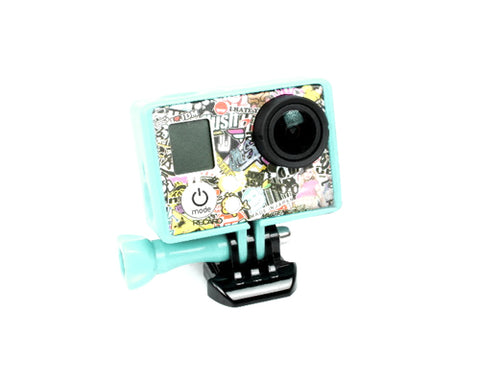 GoPro Border Standard Frame Mount for Hero 3 / 3+ / 4 Camera - Aqua