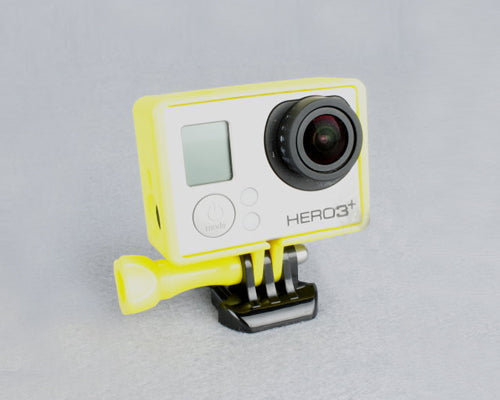 GoPro Border Standard Frame Mount for Hero 3 / 3+ / 4 Camera - Yellow