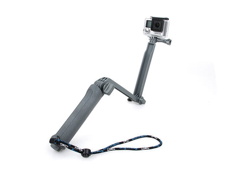 GoPro 3-Way Adjustable Extension Arm Grip Tripod for Hero Camera-Gray