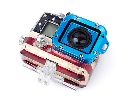 GoPro Full Aluminum LANYARD RING Mount for Hero 3 Black Edition- Blue