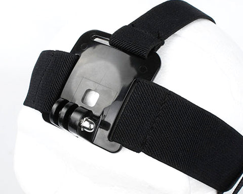 GoPro Adjustable Head Strap Mount Belt for All Hero Cameras - Black