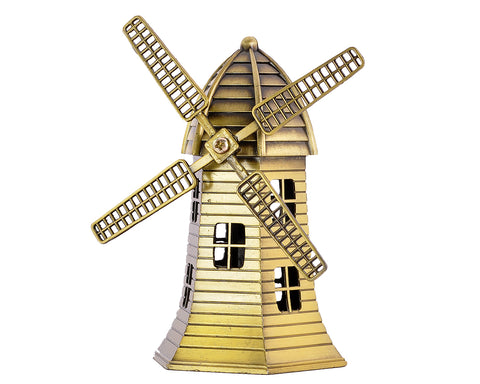 Metallic Holland Windmill Model Decoration