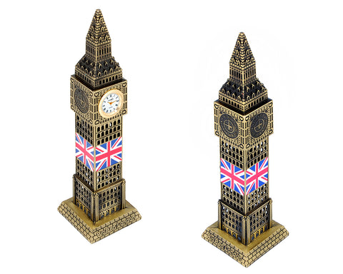Metallic Big Ben Model Statue with Working Clock