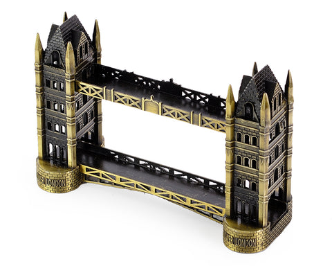 2 Pcs London Landmark Metallic Models Statue Decoration