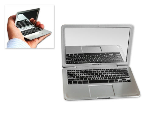 MacBook Air Design Portable Pocket Make Up Mirror - Silver