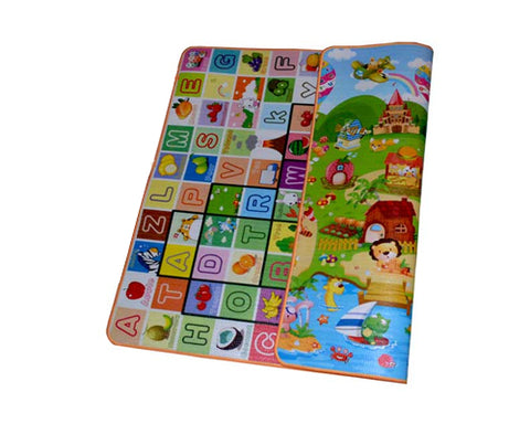 200x180 1cm Thick Two Sided Foldable Waterproof Baby Crawling Mat - A