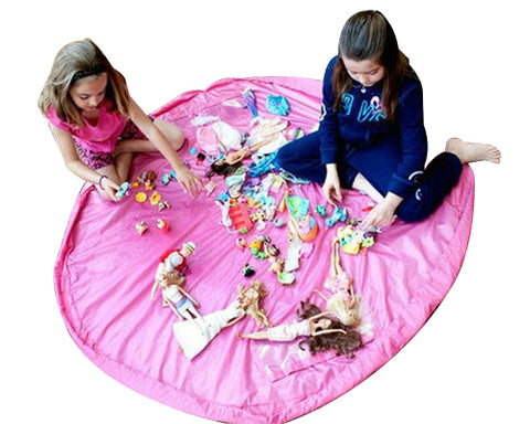59 inches Extra Large Portable Playing Mat Toy Storage Bag - Pink