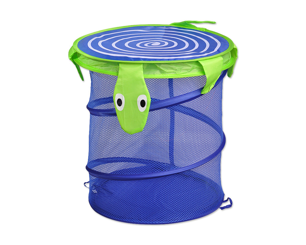 Cartoon Tortoise Foldable Pop-up Laundry Hamper - Blue