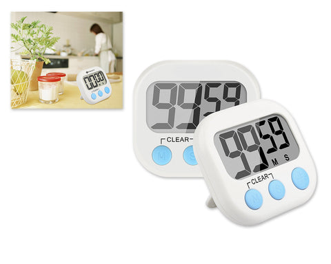 2 Pieces Magnetic Digital Kitchen Timer with Stand