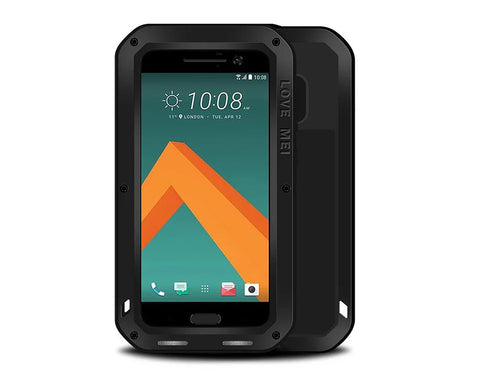 Waterproof Series HTC 10 Metal Case - Black