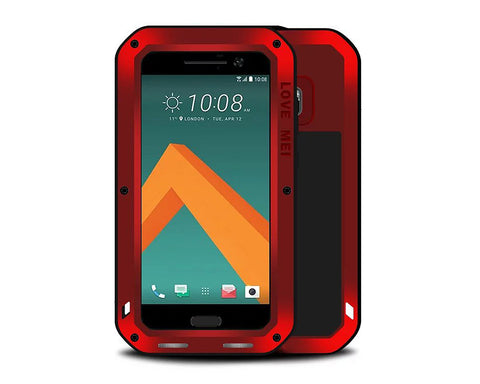Waterproof Series HTC 10 Metal Case - Red