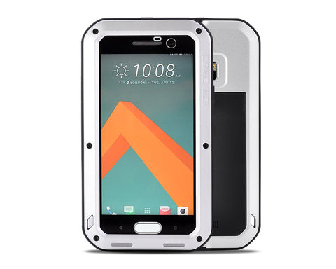 Waterproof Series HTC 10 Metal Case - Silver