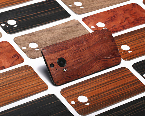 0.3mm Real Wood Back Protective Sticker for HTC 10 - Walnut