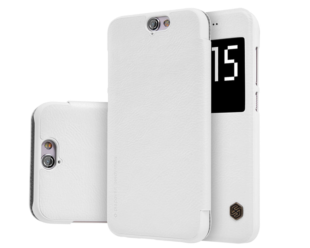 Eyelet Pro Series HTC One A9 Flip Leather Case - White