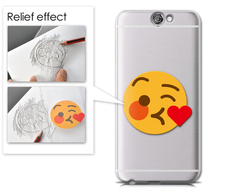 Emoji Series HTC One A9 Case - Kissing Wink