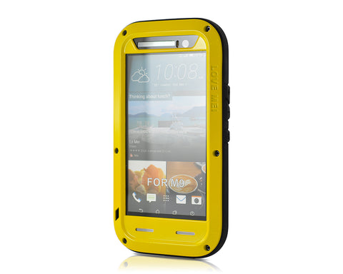 Waterproof Series HTC One M9 Metal Case - Yellow