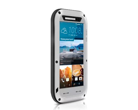 Waterproof Series HTC One M9 Metal Case - Silver