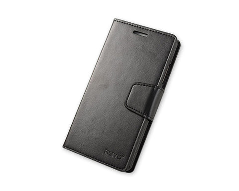 Fold Series Huawei P8 Flip Leather Case - Black