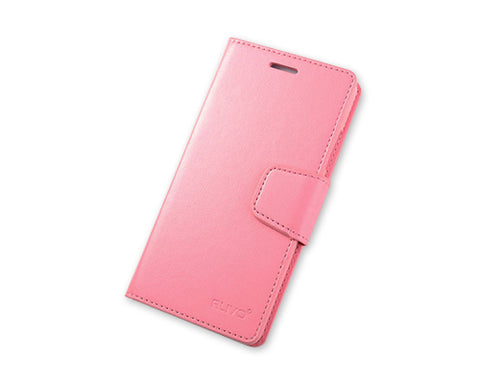 Fold Series Huawei P8 Flip Leather Case - Pink