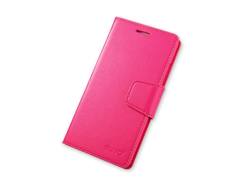 Fold Series Huawei P8 Flip Leather Case - Magenta