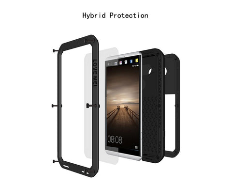 Shockproof Series Huawei Mate 9 Metal Case - Black