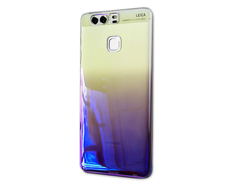 Gradient Color Series Huawei P9 Hard Case - Purple, Blue & Yellow