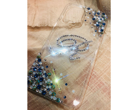 Rubble Bubble Alphabet Bling Swarovski Crystal iPhone 12 Case