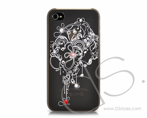 Fiori Series iPhone 4 and 4S Crystal Case - Fancy
