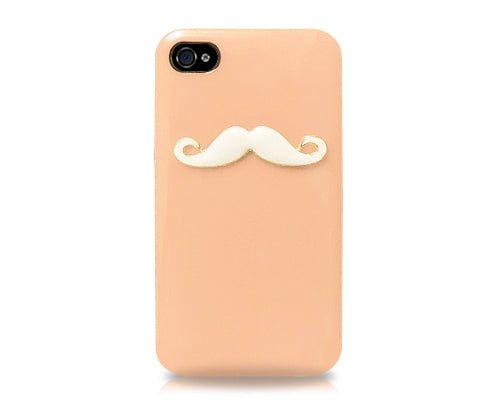 3D Mustache Series iPhone 4 and 4S Case - Orange