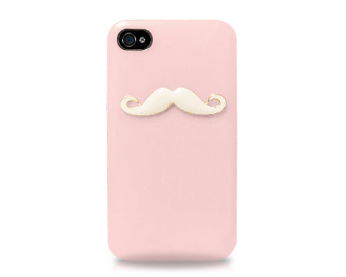 3D Mustache Series iPhone 4 and 4S Case - Pink