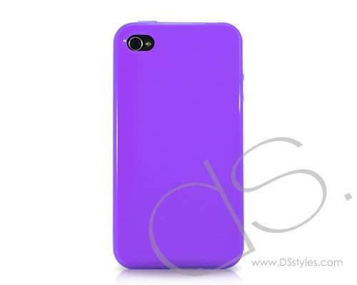Gelee Series iPhone 4 Silicone Case - Purple
