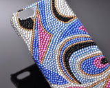 Pattern Abstract Bling Swarovski Crystal Phone Cases