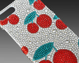Cherries Bling Swarovski Crystal Phone Cases