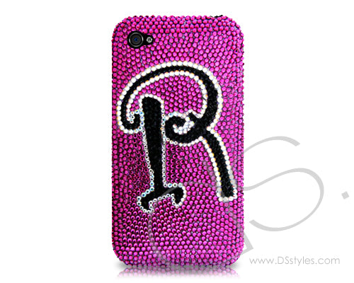 Personalized Classic Bling Swarovski Crystal Phone Cases - Purple