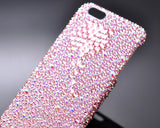 Diamond Flower Bling Swarovski Crystal Phone Cases - Pink