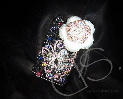 Butterfly Fantasy Bling Swarovski Crystal Phone Cases - White