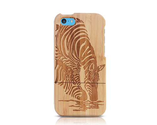 Genuine Wood Series iPhone 5C Case - Zebra
