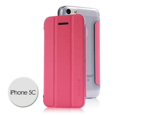 Veins Series iPhone 5C Flip Leather Case - Magenta