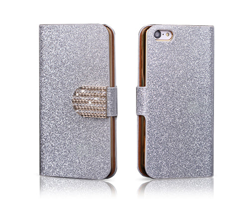 Twinkle Series iPhone 5C Flip Leather Case - Silver
