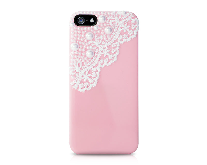 Lace Pearl Series iPhone 5 and 5S Case - Pink